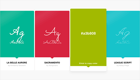 Discover Fonts And Colors With Every Tab