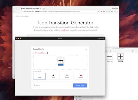 Icon Transition Generator