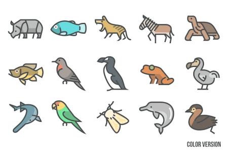 Extinct Animals Icon Set