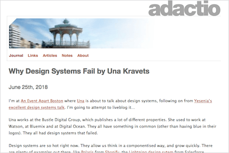 Why Design Systems Fail