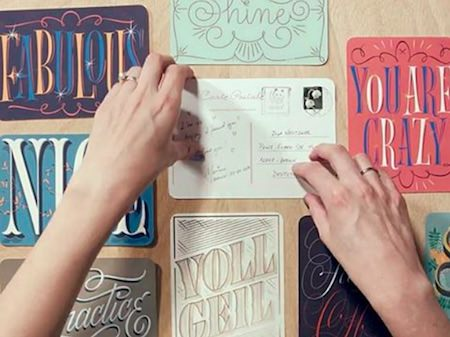 Letter Collections: A Handlettered Postcard Project