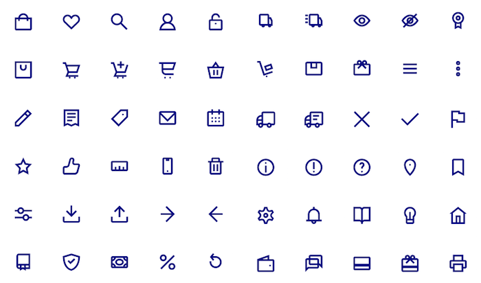 What's inside the Shopicon icon set.