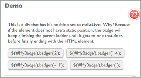 Badger: Sexy Notification Badges With jQuery