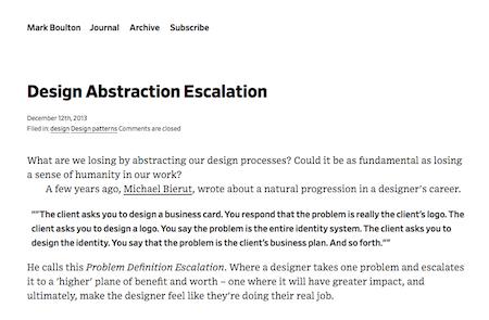 Design Abstraction Escalation