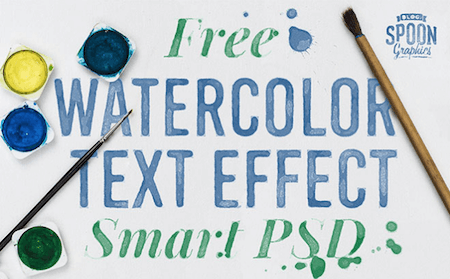 Free Watercolor Text Effect