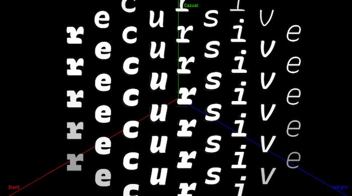 Recursive font.