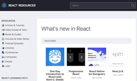 The React Resources site