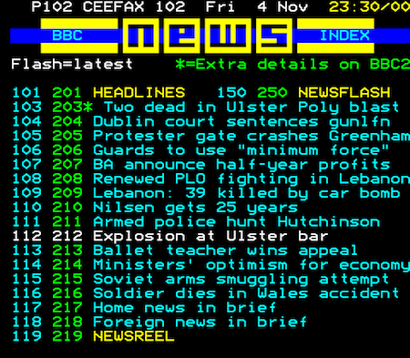 Teletext Time Travel