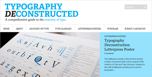 Typographical Anatomy