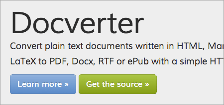 Docverter: Converting Text Documents On The Fly