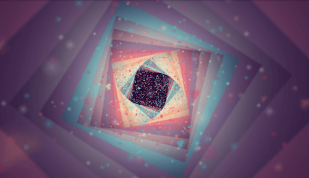 Abstract CSS doodle called Floating Heart