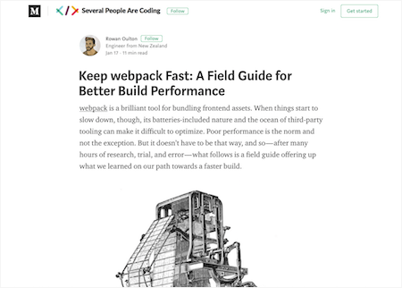 Keep Webpack Fast