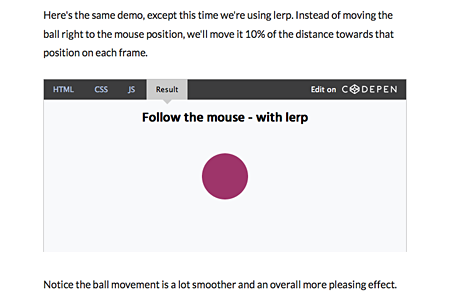 Lerp: Linear Interpolation in Animations