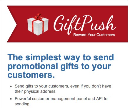 GiftPush: Customer Rewards Creates Customer Loyalty