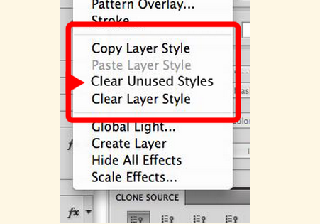 Remove Unused Layer Styles In Photoshop