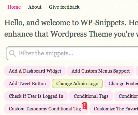WP-Snippets