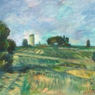 Paul D'Aguilar (b. 1927) - Signed 1991 Oil, Summer Fields