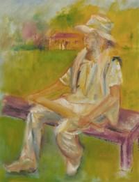 Louis Klein - 20th Century Oil, Portrait of a Gentleman, The Cricketer