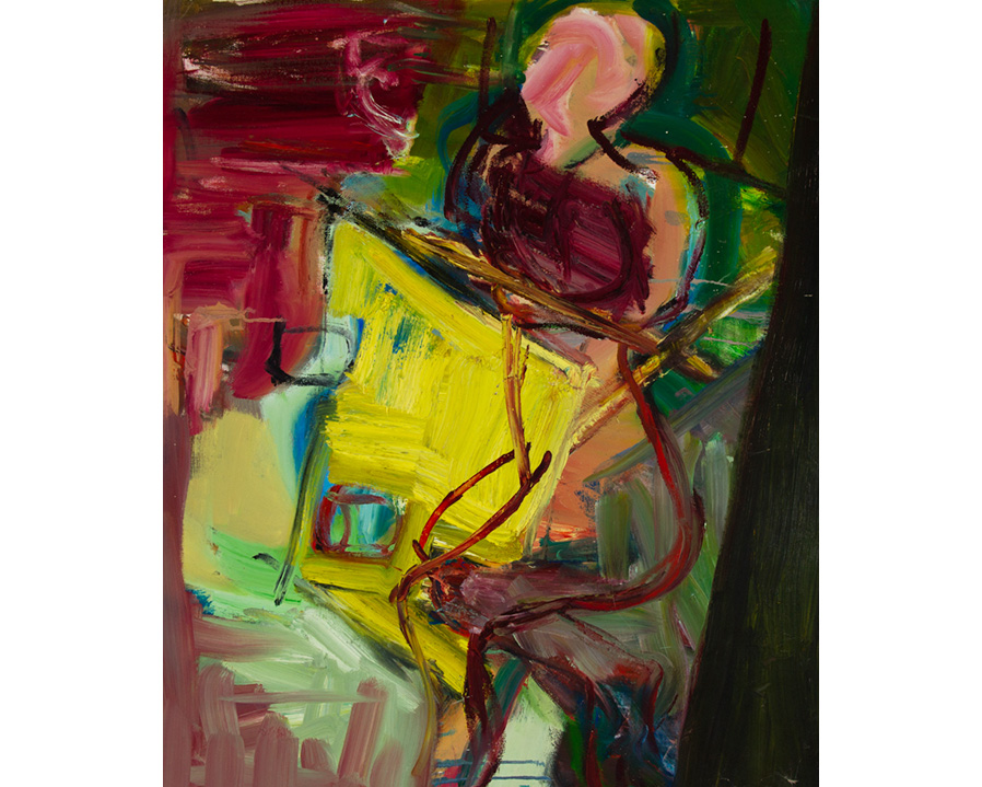 Large Impasto Contemporary Oil - Vibrant Abstract Figure