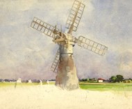 C.A. Hannaford - Mid 20th Century Watercolour, Windmill