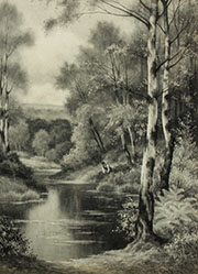 F. Carless - Early 20th Century Watercolour, Woodland River Scene