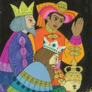 Esme Eve - Contemporary Gouache, Kings Presenting Gifts