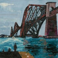 B. Rofferty - Signed Contemporary Oil, Forth Bridge