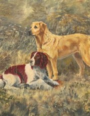 James Frank Adams (1923-2008) - 1986 Oil, The Dogs