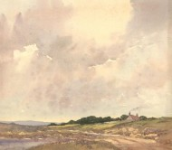 Herbert Goodliffe (1900-1958) - Mid 20th Century Watercolour, Cottage Skyscape