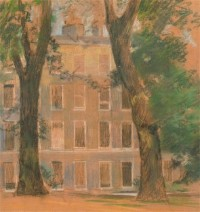 A.V. Bramble - 20th Century pastel, Study of a Townhouse