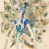 A.P. - circa 1906 Watercolour, Peacock Costume Design