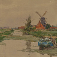 Wilfrid Williams Ball (1853-1917) - 1889 Watercolour, Near Leiden