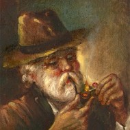 Nazzareno D'Angelo - 20th Century Oil, Gentleman with a Pipe