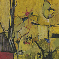 20th Century Oil - Abstract Composition in Yellow