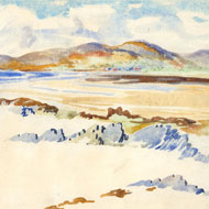 Elizabeth Mary Watt (1886-1954)- Signed Watercolour, Beach at Carradale, Kintyre
