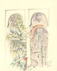 Frederick William George (1889-1971)- Watercolour, Middle Eastern Interior Scene