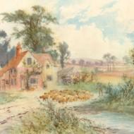Sidney Yates Johnson (fl. 1890-1926) - Watercolour, The Farm