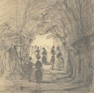 Lady Louisa Beresford (1818-1891) - Graphite Drawing, Caen Wood