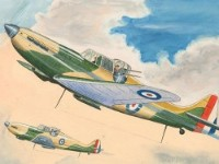 Mid 20th Century Watercolour - Camouflage Fighter Planes