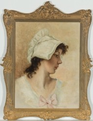 Stunning Gilt Framed Late 19th Century Oil - Portrait of a Young Woman