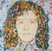 Chris Plowman (1952-2009) - 20th Century Silkscreen, Portrait of a Girl, Blues