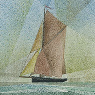 John Wood - Framed 2003 Watercolour, Spritsail Barge