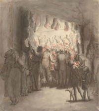 Harold Hope Read (1881-1959) - Signed 1925 Pen and Ink Drawing, Meat Market