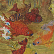 20th Century Acrylic - Colourful Fish