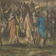 Harold Hope Read (1881-1959) - Watercolour, Fair Ground Commotion