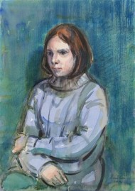Richard Ian Bentham Walker (1925-2009) - 1994 Watercolour, Portrait of Girl