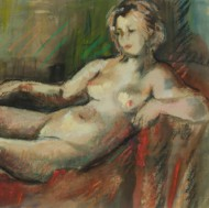 Rowland Suddaby (1912-1972) - Mid 20th Century Pastel, Reclining Female Nude