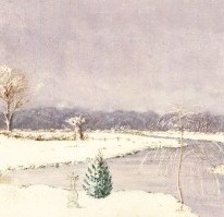 Eliza Westlake - Mid 19th Century Watercolour, Winter, Fordingbridge, New Forest