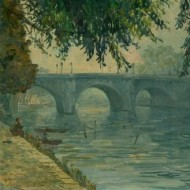 J. Chatel - Signed 20th Century Oil, Pont Neuf, Paris