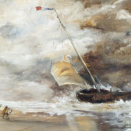 https://www.sulisfineart.com/follower-of-jmw-turner-framed-mid-20th-century-oil-stormy-shipping-scene.html